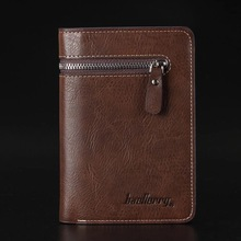 High Quality Luxury Brand Wallet Men Zipper Design  Men's Pu Leather Vallet Mini Coin Purse Crazy Horse Male Walet small fashion famous brand handy mini portomonee men wallet coin purse male clutch bags with slim coin money cuzdan vallet walet