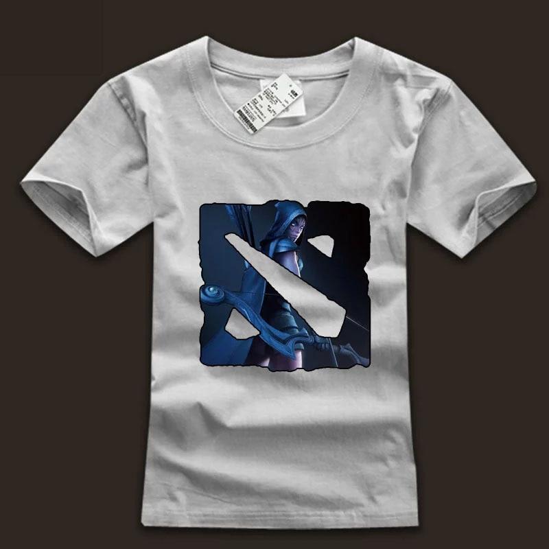 dota 2 drow ranger hero t shirts dota logo o neck white tee shirts