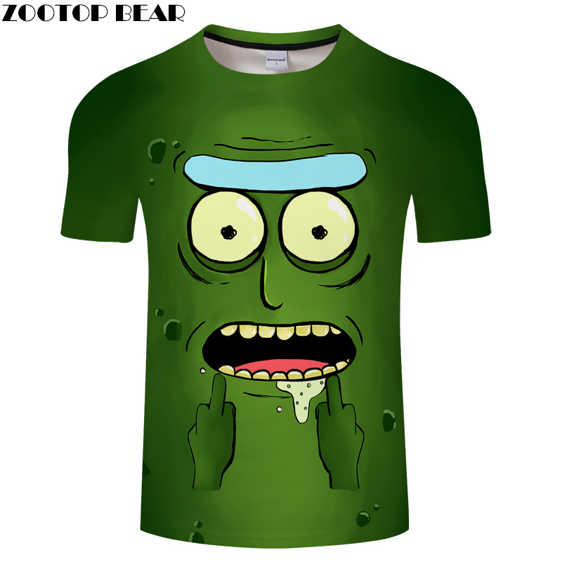 3D MEN Hungry Boy Tee Short Sleeve tshirt Cartoon t shirt Funny Casual Summer t-shirt  Round Neck Top ZOOTOP BEAR PlusSize S-6XL