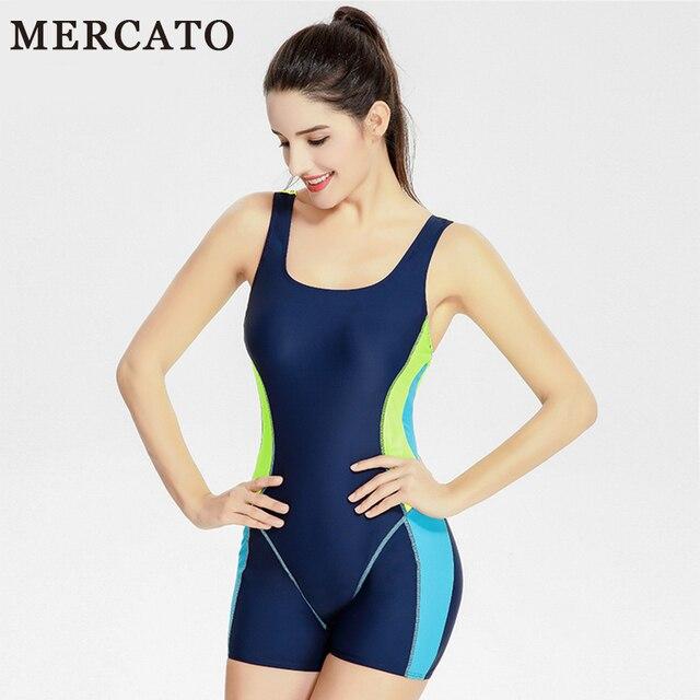 5a4bbdc8017 MERCATO Professional Sports Swimsuit One Piece Swimwear Women Sport Swimsuit  Bodysuit Elastic Competition Swimming Tech Suit