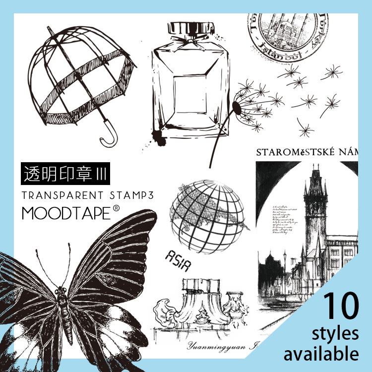 Moodtape Vintage Clear Stamp For DIY Scrapbooking/photo Album Decorative Transparent Stamp Label Coffee Rubber Stamp Seal