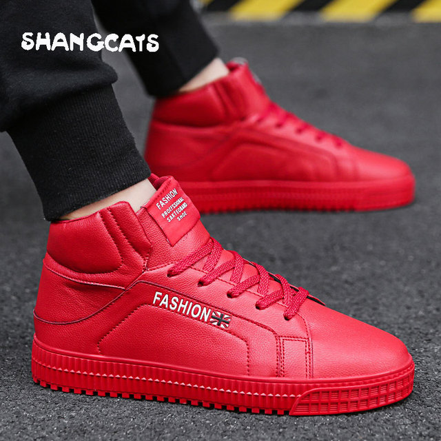 77631d3e59b3 Casual Sneakers men high top microfiber platform shoes brand fashion plaid  mens shoes black hot footwear male vulcanize shoes