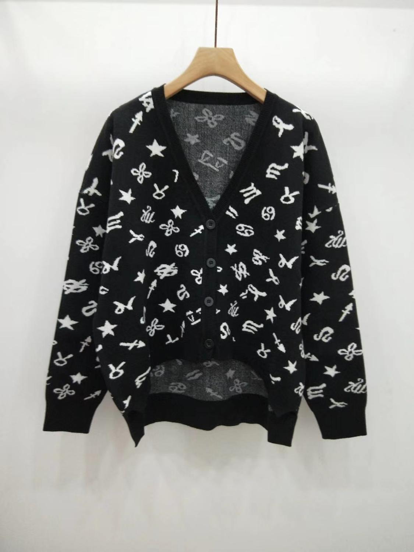 2019 automne hiver WALLA ERA femmes chandails décontracté SWEETY dames chandails noir et blanc tricoté FEMME chandail-in Cardigans from Mode Femme et Accessoires    1