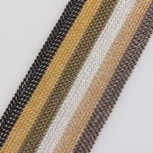 Металлические цепочки с бусинами, 5 м/лот, 1,5 мм, 7 цветов, крупные железные цепочки для изготовления браслетов, ожерелий, ювелирных изделий св...