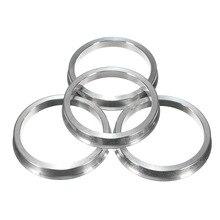 4 шт. 66-57 мм Алюминиевые кольца редуктора для VW сиденья для AUDI для MERCEDES литые диски