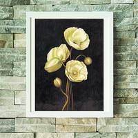 Diy Diamond Painting Flower Simple Modern Decorative Hanging Picture Full Diamond Embroidery Cross Stitch Diamond Mosaic