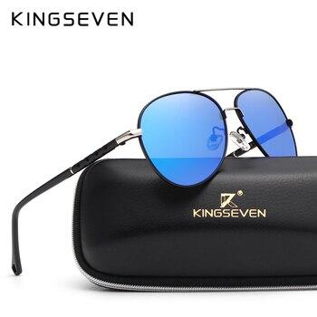 2019 Nuovo Arrivo KINGSEVEN Polarizzati Occhiali Da Sole Degli Uomini/Donne Del Progettista di Marca d'epoca di Sesso Maschile Occhiali Da Sole Occhiali oculos de sol masculino