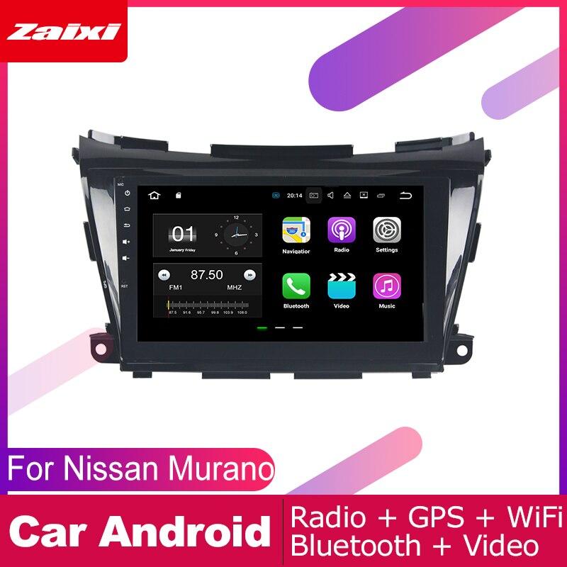 ZaiXi 2 DIN lecteur automatique GPS Navigation Navi pour Nissan Murano Z52 P42M 2015 ~ 2019 voiture Android système multimédia écran Radio