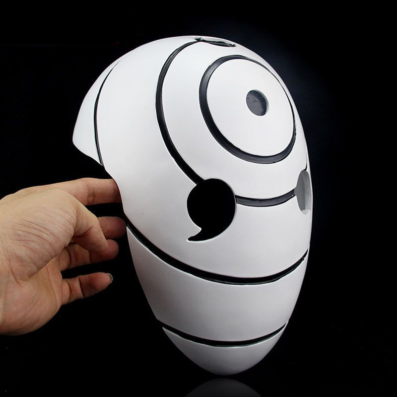 Free Shipping China Manufacture White Resin font b Naruto b font Obito Mask Tobi Madara Anime