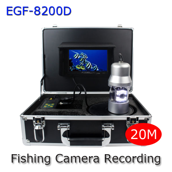 7Inch LCD Underwater Video Camera System Fish Finder DVR Sony 700TVL With SD Card Recording Fishing Monitor GSY8200D underwater 30m 600tvl dvr av endoscope camera with 7 inch lcd monitor