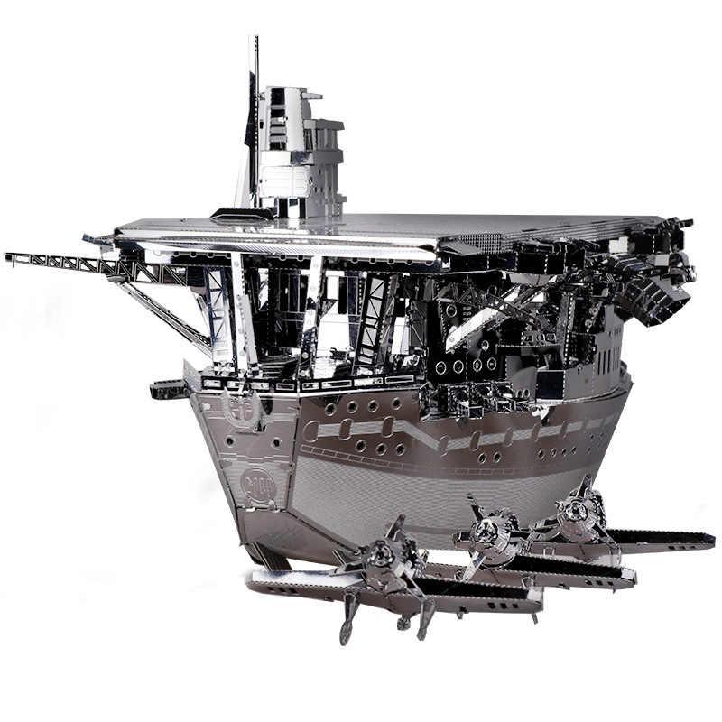 مو 3D لغز معدني حاملات الطائرات أكاجي نموذج DIY الليزر قطع بانوراما نموذج للأطفال الكبار الألعاب التعليمية سطح المكتب الديكور