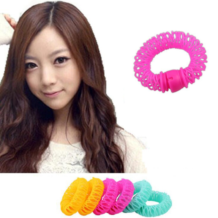 hair curler Roll roller Twist Hair Care Styling stick Roller DIY tools harmless safe plastic for lady girls round large