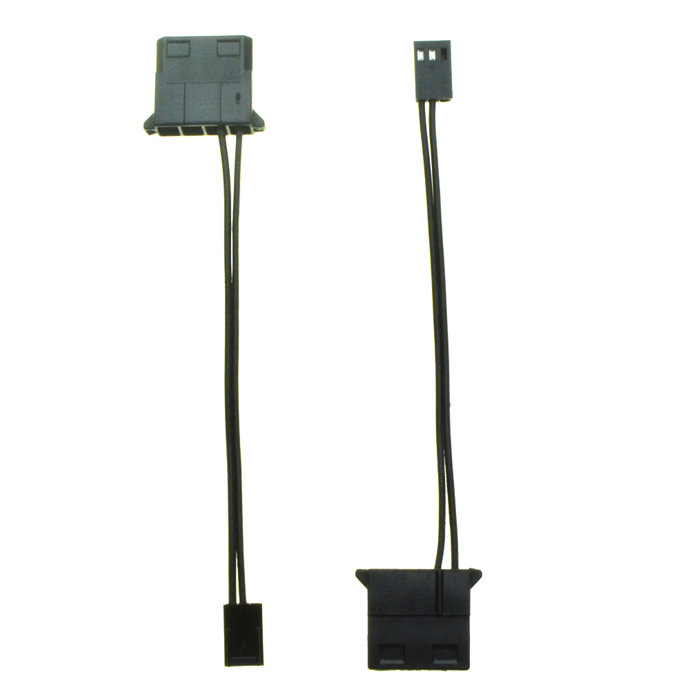 IDE Female Port To 3 Pin Fan Power Female Cable Molex D Plug Power To 3 Pin Connector Computer PC Cooling Convertor Cable