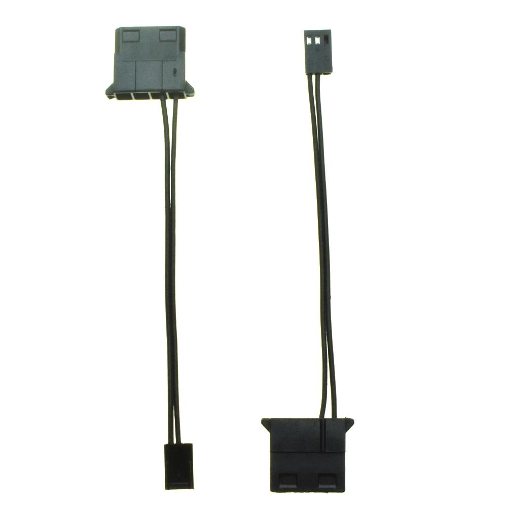 IDE гнездовой порт к 3-контактному вентиляторному кабелю, разъем питания Molex D, 3-контактный разъем, компьютерный ПК, кабель-конвертер для охлаж...