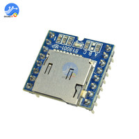 BY8001-16P reproductor de MP3 compatible con tarjeta Micro SD TF kit de amplificador DIY para Arduino MP3 reproductores Módulo de sonido de Audio