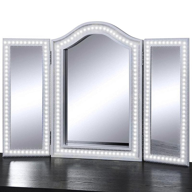 <font><b>Hollywood</b></font> LED Vanity Lights Mirror Light Dressing Table Flexible Light Strip Daylight White with Dimmer Excluding Mirror image