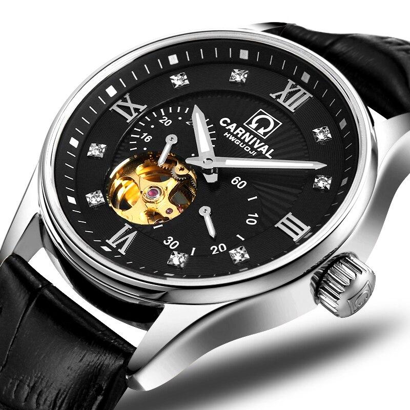 Japan MIYOTA Automatic Movement Watch Men Switzerland Carnival Brand Luxury Men Watches Sapphire hombre relogio clock C7612-8