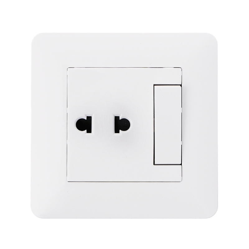 wall-outlet-2-hole-universal-power-socket-with-1-gang-2-way-light-switch-porcelain-white-wall-panel