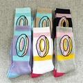 6 Colors New Cotton Men Women's Socks Odd Future Donuts Graphic Socks Fashion Hiphop Long Socks Free Shipping