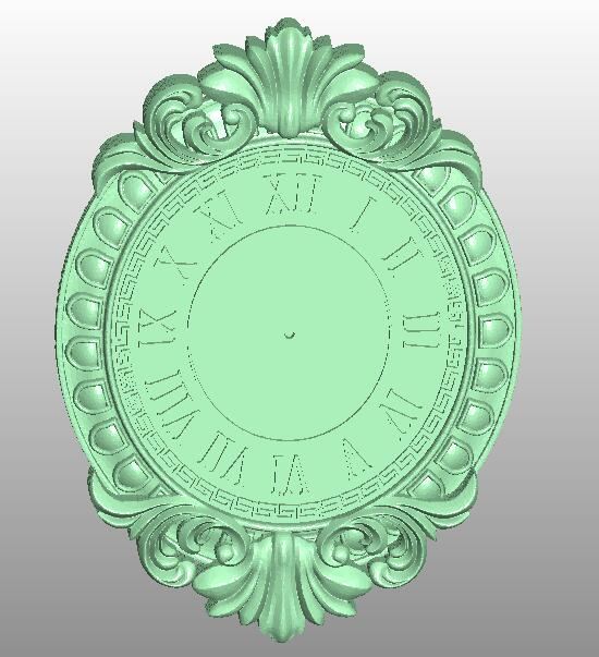 Clock 3D Relief STL Model For Cnc Router Carving Engraving Artcam Type3 Aspire C21
