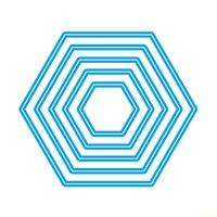 Hexagon Metal Die Cutting Scrapbooking Embossing Dies Cut Stencils Decorative Cards DIY Album Card Paper Card