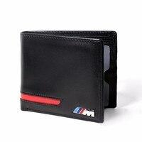 Genuine Leather Car Drivers License Wallet M Credit Card Case For BMW E60 E90 F10 E64