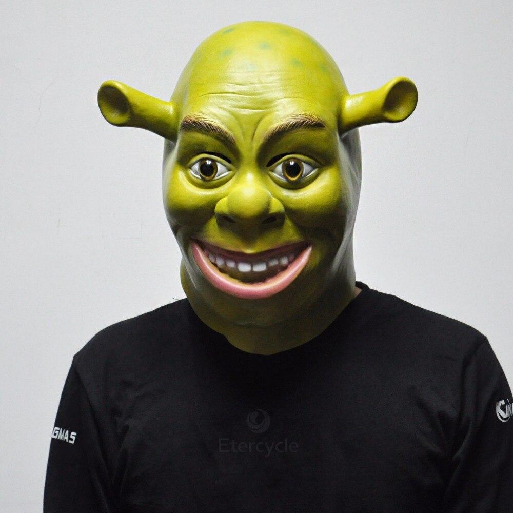 Aliexpress.com : Buy Green Shrek Latex Masks Movie Cosplay Prop ...