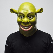 Halloween Props Adult Shrek Masks Animal Full Latex Masquerade Birthday Party Rubber Silicone Green Cosplay Movie Face Mask