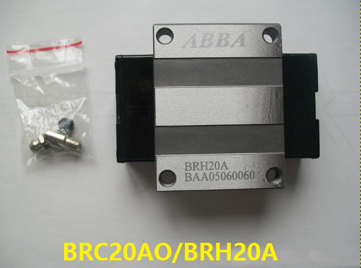 4pcs Original Taiwan ABBA BRC20AO/BRH20A Linear Flange Block Carriage Linear Rail Guide Bearing for CNC Router Laser Machine