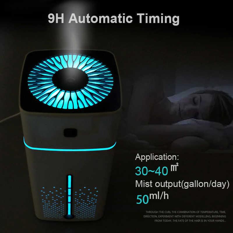 Ultrasonik hava nemlendirici difüzör sessiz 7 renk gece lambası Mini aromalı uçucu yağ difüzör serin Mist Maker ev temizleyici