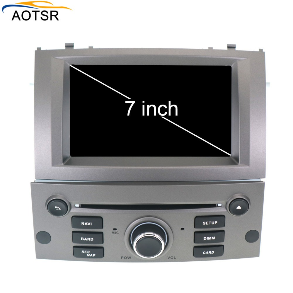 IPS Android 8 0 Car DVD player head unit For Peugeot 407 2004 2010 Auto Radio