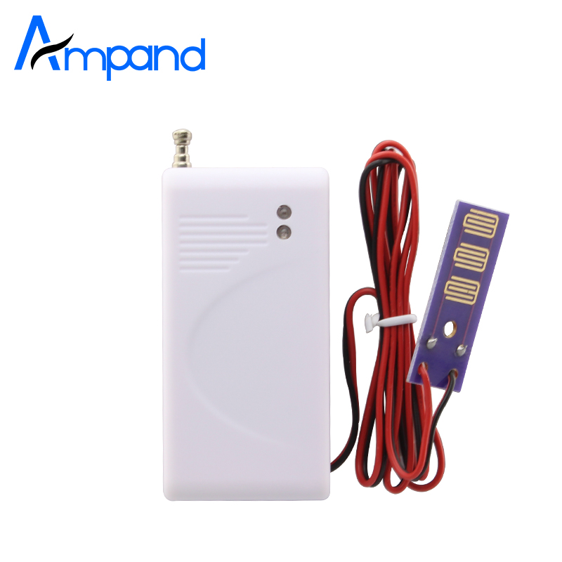 Ampand 433mhz Wireless Water Leak Detector for Home Security GSM Alarm System Flood Water leakage Sensor 1pcs yobang security wireless water leakage sensor detector water flood sensor 433mhz leak detector for g90b alarm panel