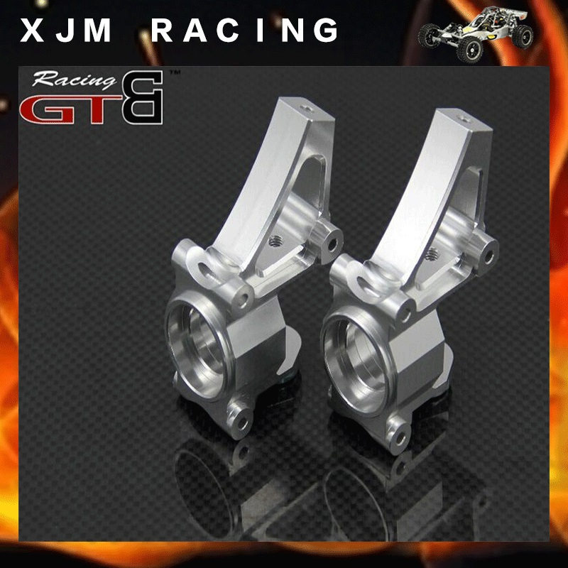 RC CAR CNC ALLOY FRONT HUB CARRIER FOR 1/5 GTB HPI KM ROVAN BAJA TIRE PARTS