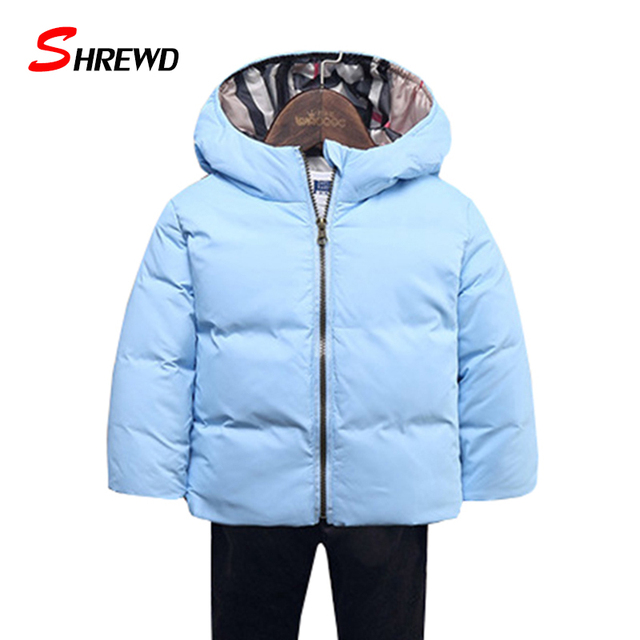 Winter Coat Girl 2017 New Casual Down Pure Color Jackets For Girls Hooded Long Sleeve Zipper Simple Baby Girl Clothes 5558W
