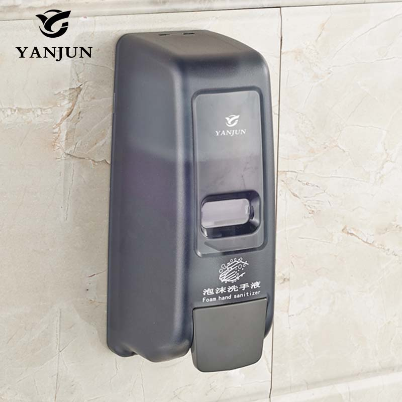 Yanjun 400ml Wall Mounted Single Foaming Soap Dispenser Commercial Soap  Dispenser For Bathroom Kitchen Black Green