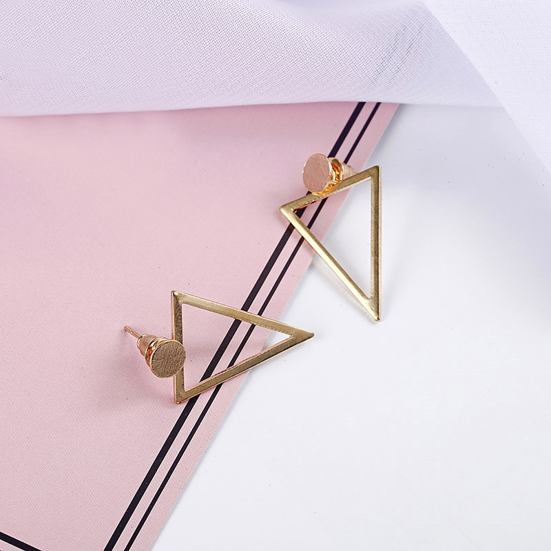 Simple Style Fashion Silver Gold Color Earrings for Women Square Round Geometric Hanging Earrings 18 Female Pendientes Jewelry 24