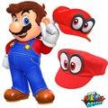 Шапка Super Mario Odyssey, красная, 2018, новая, носимая, бейсболка, унисекс, регулируемый, хлопковый костюм, для Хэллоуина, вечеринки