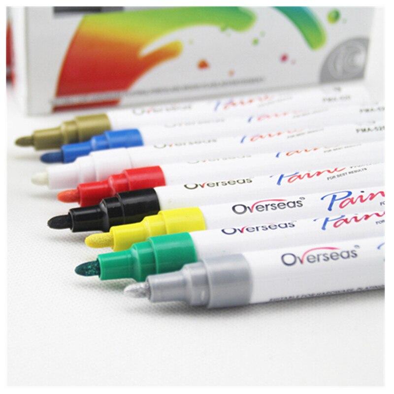 Водостойкая автомобильная ручка для ремонта царапин, автошины, протектора, краски, маркеры, граффити, фломастер на масляной основе, уход за краской, средство для удаления царапин, автостайлинг