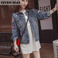 Super! Fashion Chic Patches Plus Size 5XL Boyfriend Denim Jacket Outwear Long Sleeve Oversized Jean Jacket Women Basic Coats