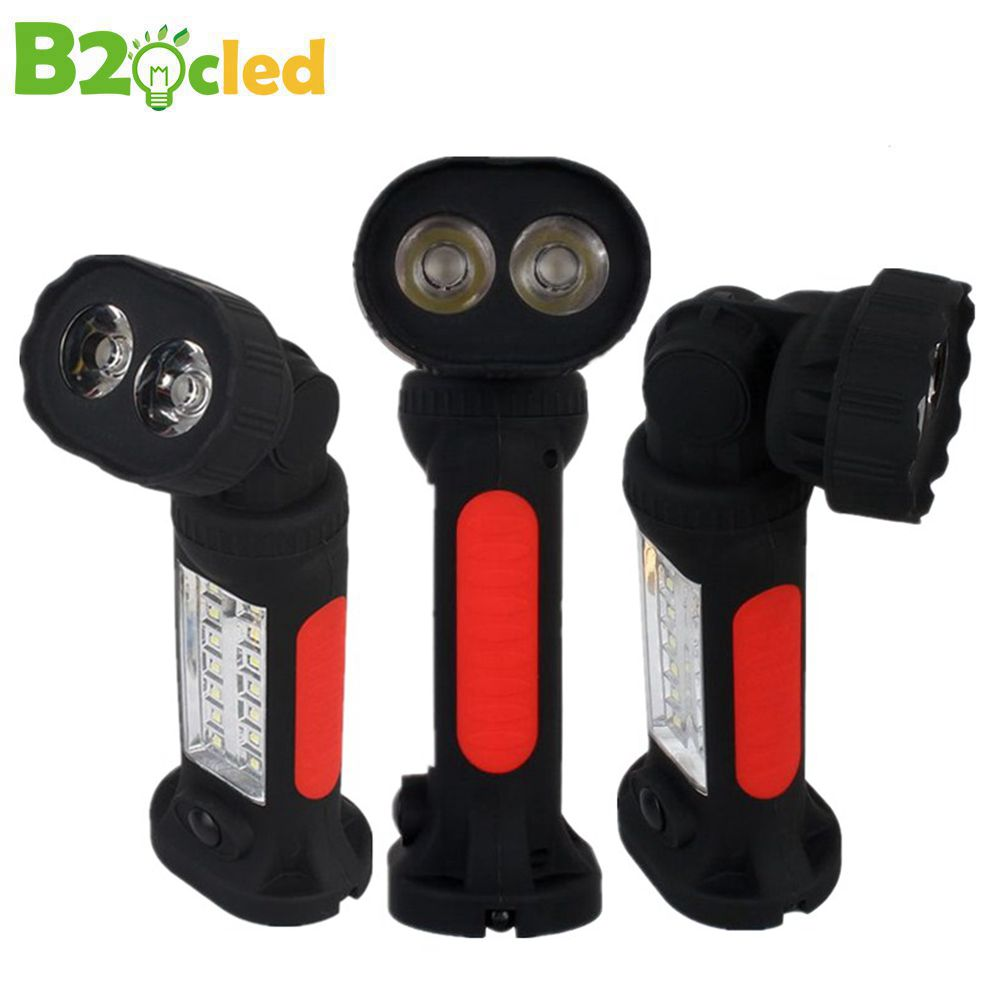 2017 Creative rotary multi-function LED flashlight 3W 1000lm with magnet adsorption function Q5 4 * AAA battery emergency light 2017 rotary multifunctional working flashlight with magnet adsorption hook use 4 x aaa battery work light outdoor emergency lamp
