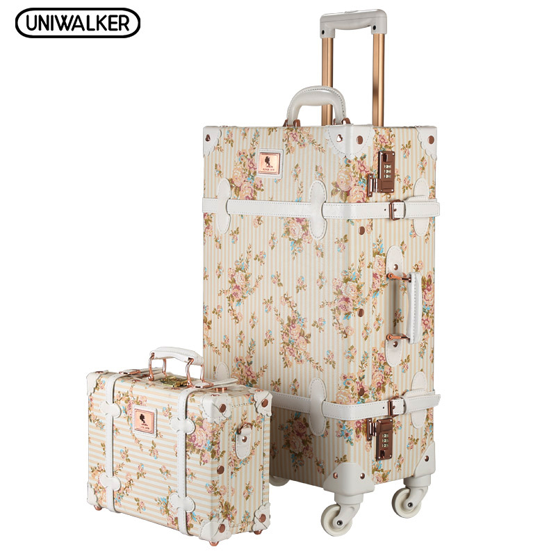 Vintage Floral Luggage   Luggage And Suitcases