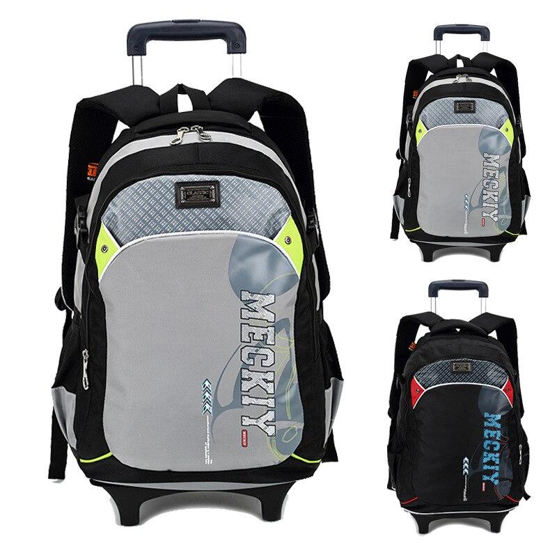 Дети тележка рюкзак школьные сумки для девочек Сумка на колесах студент Съемная Rolling рюкзаки ранцы Для женщин Дорожная сумка Mochila