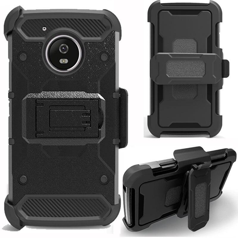 Case For Motorola Moto G5/G5 Plus Heavy Duty Hybrid Armor Case Shockproof Belt Clip Holster Cover For Motorola Moto G5 Plus }