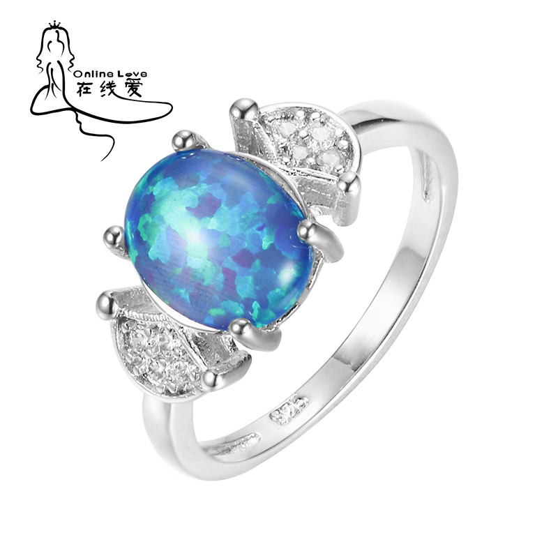 New Arrival  Stone White Opal Silver Plated Ring for Women New Fashion Jewelry Wholesale Dropshipping Hot Sell Ring R207