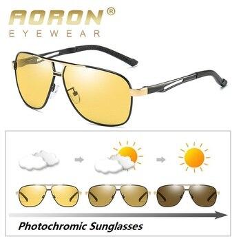 b1916d2bf2 Gafas de sol fotocromáticas AORON polarizadas para hombre gafas de sol HD  de visión diurna y nocturna para mujer gafas de conducción Oculos zonnebril  mannen