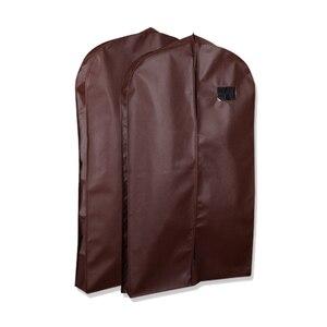 Image 2 - Erweiterung Kleidung Abdeckung vlies Stoff Staub Feuchtigkeit beweis Hängen Tasche für Winter Kleidung Pelz Mantel Protector AHD001
