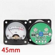 2 pcs 45mm Lớn VU Meter Khuếch Đại Âm Thanh Stereo Chỉ Báo mức Có Thể Điều Chỉnh Với Điều Khiển