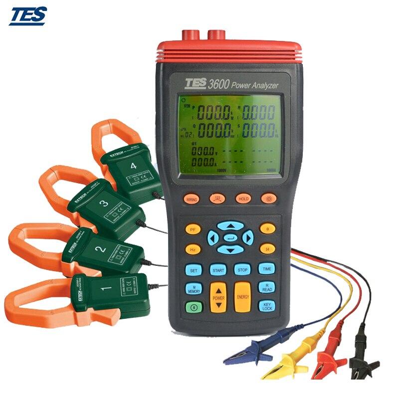 Analyseur de puissance à 3 phases TES-3600