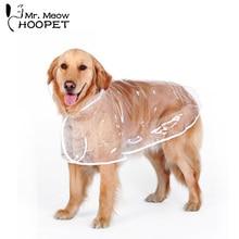 Hoopet дождевик для собак, дышащая водонепроницаемая одежда с капюшоном для собак, одежда для больших собак, Всесезонная одежда