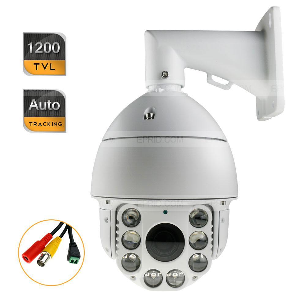 HD Auto Tracking High Speed PTZ IR Outdoor CCTV Camera 1200TVL 30X ZOOM 7 cctv security hd ip network 960p ptz auto tracking camera high speed 22x zoom ir 100m ip66 256 presets 6 2ledlights